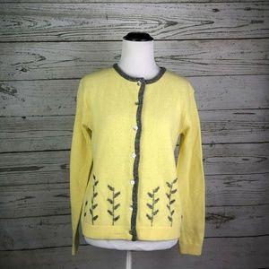Vintage 90s Free People Yellow Lambswool Sweater